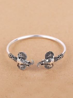 Ethnic Ganesha Silver Opening Statement bangle