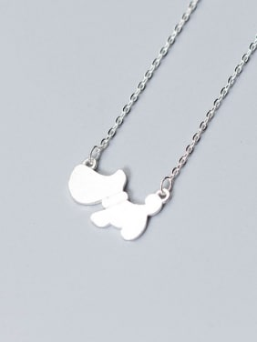 Lovely Cartoon Dog Shaped S925 Silver Necklace