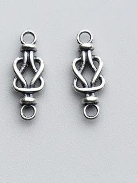 925 Sterling Silver With Antique Silver Plated  Geometric Connectors