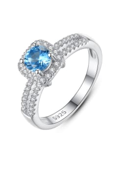 925 Sterling Silver With Cubic Zirconia Fashion Square Band Rings
