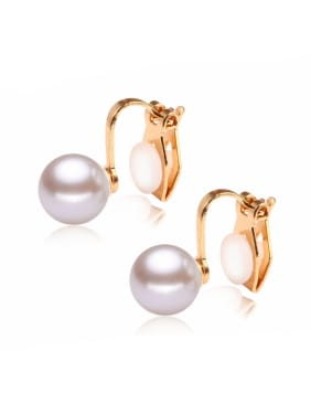 Stainless Steel With Gold Plated Fashion Round Stud Earrings