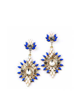 Wedding Accessories Stones Drop Chandelier earring