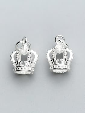 925 Sterling Silver With Silver Plated Cute Crown Charms