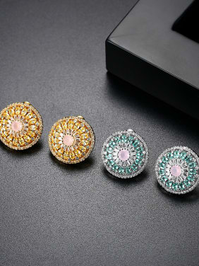 AAA zircon round colored Fashion Earrings