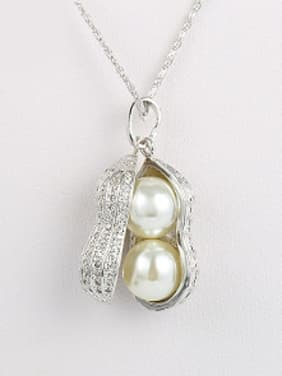 Personalized Peanut Artificial Pearls Pendant
