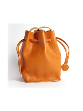 First layer cowhide  belt bucket bag multi-color optional