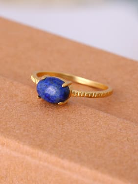 Exquisite Blue Oval Shaped Women Ring