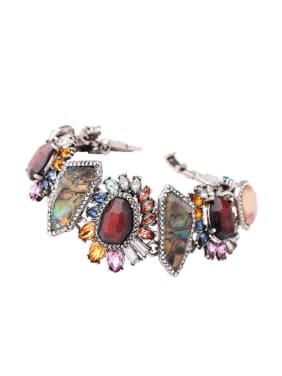 Retro Irregular Stones Colorful Noble Women Bracelet
