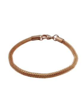 Personality Rose Gold Plated Geometric Titanium Bracelet