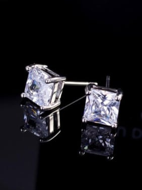 Simple Square AAA Zircons stud Earring