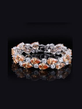 Color Zircon Wedding Bracelet