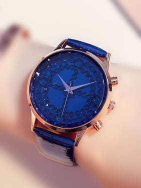 GUOU Brand Fashion Rhinestones Round Watch