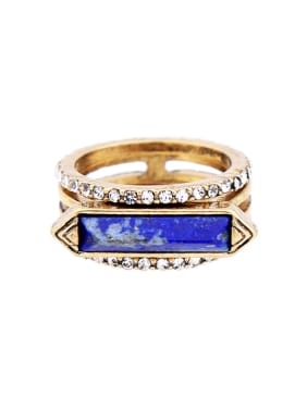 Retro Natural Stones Western Style Women Ring