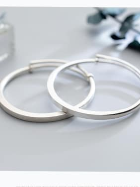 S990 silver bracelet female wind simple circular opening adjustable hand ring tide hand S2420
