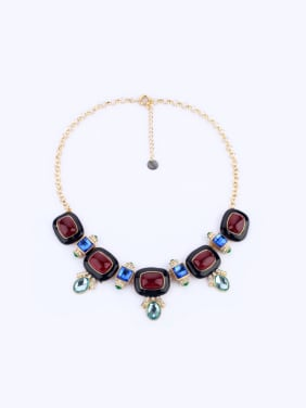 Gold Plated Artificial Stones Women Necklace