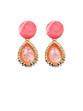 Alloy With Rose Gold Plated Fashion Water Drop Drop Earrings