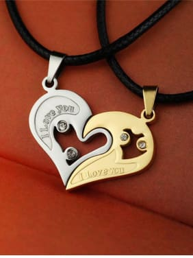 Lovers Heart-shaped Necklace Set