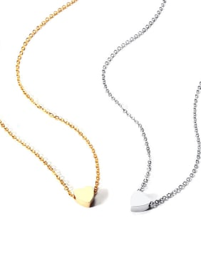 Stainless Steel Minimalist Style Classic Love Necklace