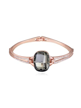 Fashion Rose Gold Plated Swarovski Crystal Alloy Bangle