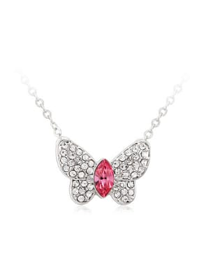 Butterfly Austria Crystal Rhinestones Necklace