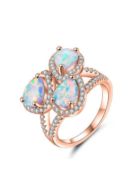 Fashion Water Drop shaped Opal Stones Ring