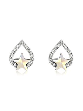 Fashion Star Swarovski Crystals Water Drop Alloy Stud Earrings
