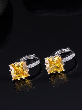 Platinum Plated AAA Zircons Ear Clip