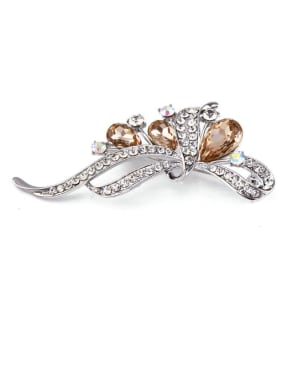 2018 Platinum Plated Crystals Brooch