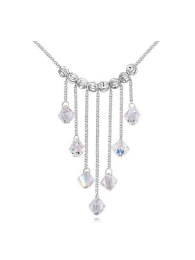 Fashion Little Swarovski Crystals Tassels Pendant Alloy Necklace