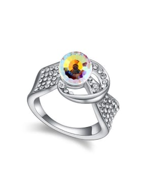 Personalized Swarovski Crystal Bead Alloy Ring