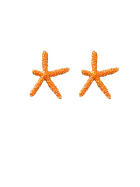 Alloy With Platinum Plated Fashion Sea Star Stud Earrings