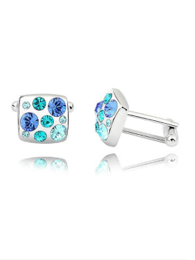 Fashion Cubic Swarovski Crystals Alloy Cluffinks