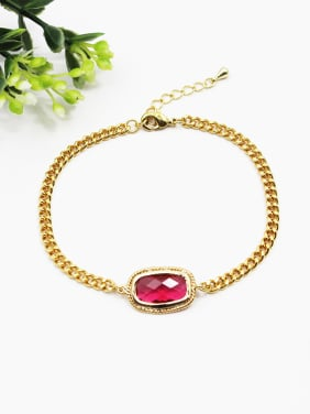 Delicate Red Natural Stone Women Bracelet
