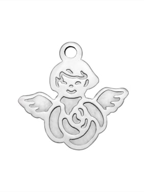Stainless Steel With Cute Angel Charms