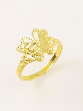 Temperament Gold Plated Butterfly Shaped Copper Ring