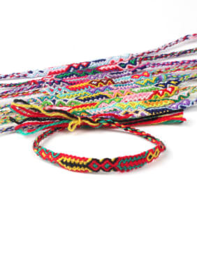 Retro Style Colorful Woven Fashion  Bracelet