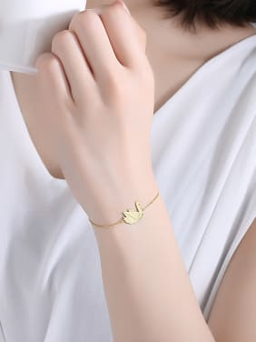 925 Sterling Silver With Glossy Simplistic  Swan Bracelets