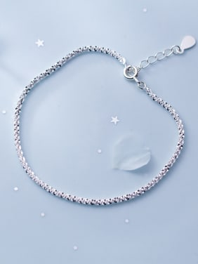 925 Sterling Silver With Silver Plated Simplistic Bracelets