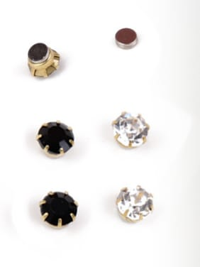 Stainless Steel With Gold Plated Fashion Geometric Stud Earrings