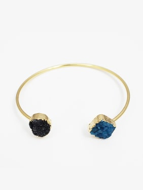 Irregular Open Design Natural Stone Bangle