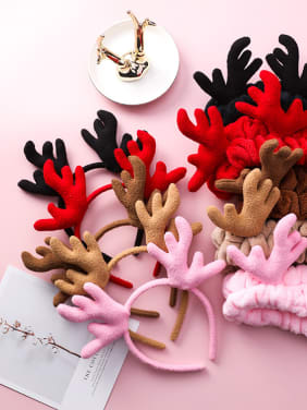 Cute Christmas Antler Downy Hair Hoop