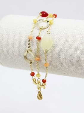 Fresh Adjustable Length Natural Stone Bracelet