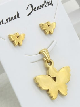 Gold Plated Butterfly Fashion Set