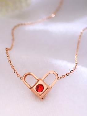 Stainless Steel With 18k Rose Gold Plated Trendy Locket A multi wear Necklaces
