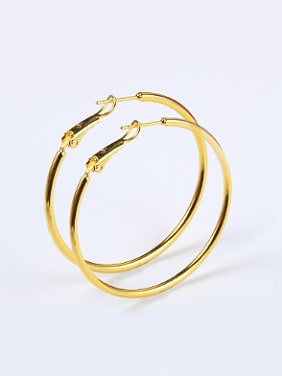 Simple Smooth Gold Plated Hoop Earrings