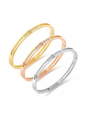 Stainless Steel With Rose Gold Plated Simplistic Geometric Bangles