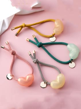Candy color heart-shaped hair rope