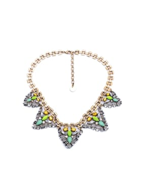 Triangle Pendant Women Sweater Necklace