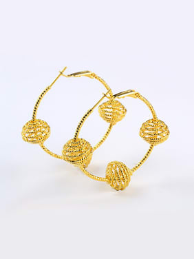 Exaggerated Ethnic style Gold Plated Hoop Earrings