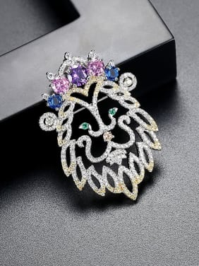 AAA zircon color creative Lion King Brooch